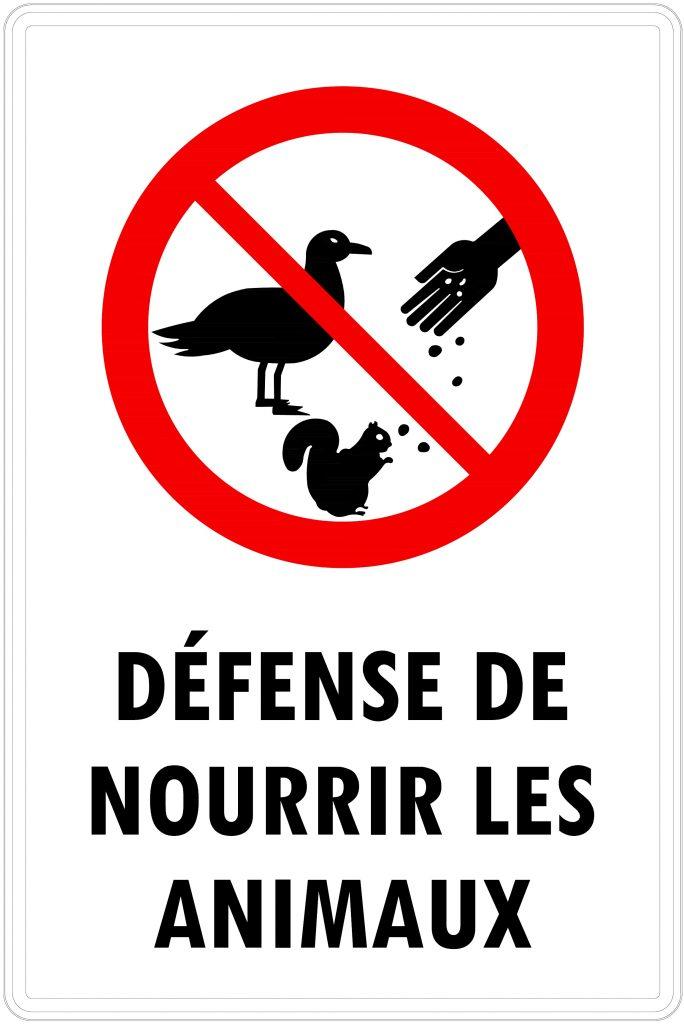 Ne pas nourrir les animaux